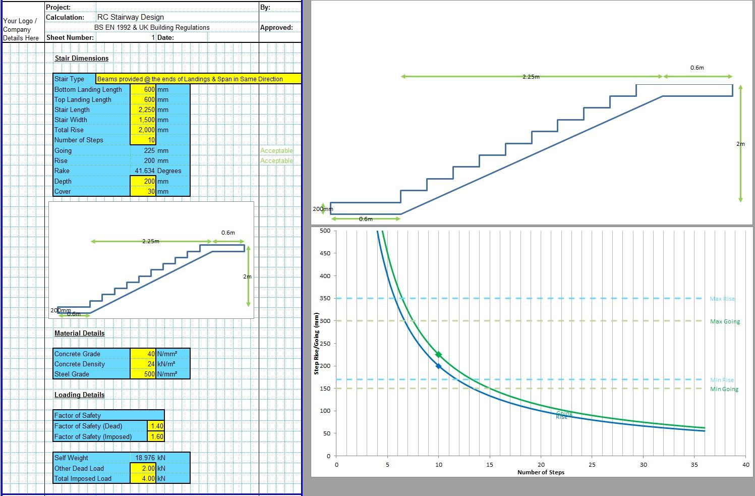 Concrete Stairs Design Spreadsheet1