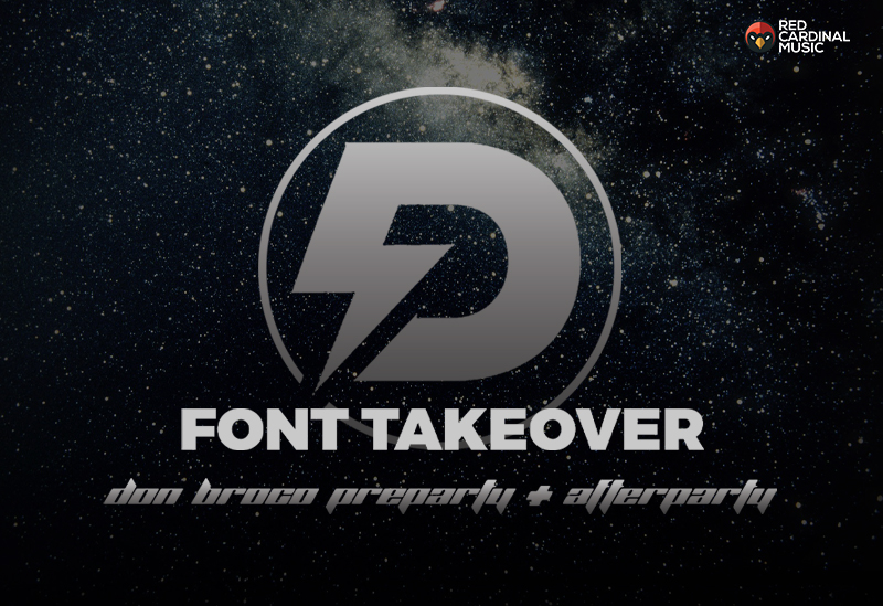 Deadbolt Font Takeover - Don Broco Party - Feb 19 - Red Cardinal Music