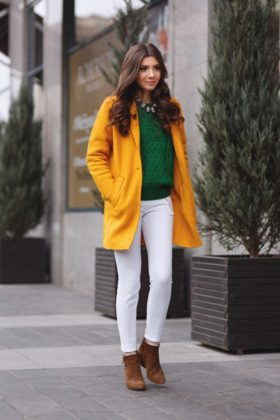 Green winter outfits