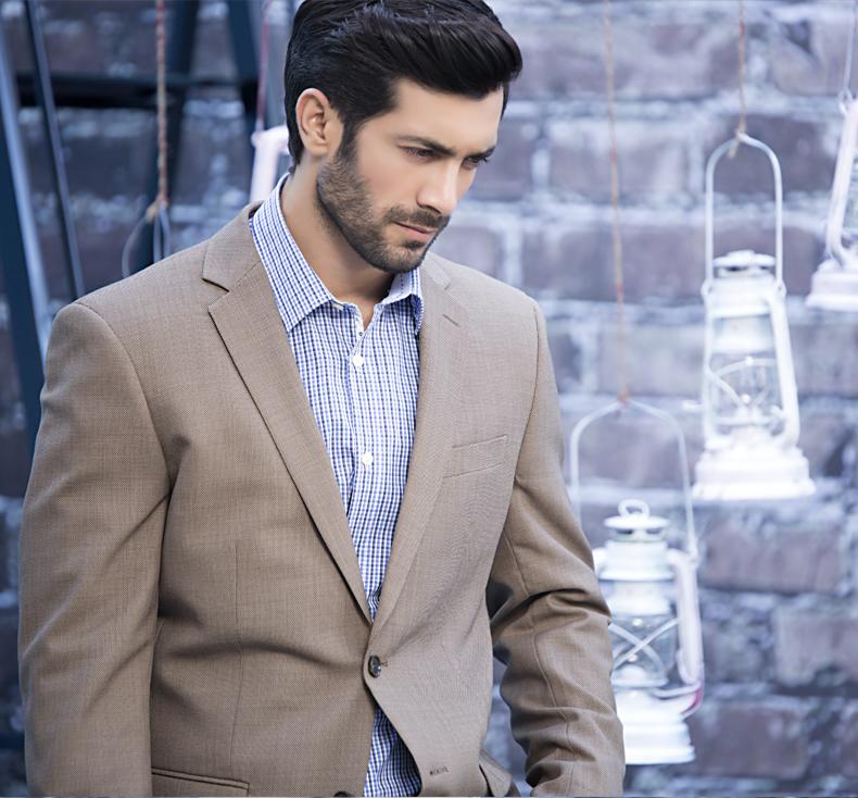 Men coat in winter