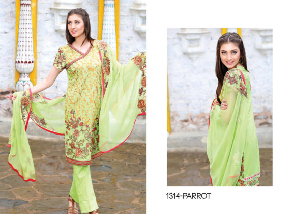 Motfiz Embroidered Lawn Fancy Dresses