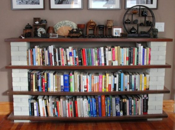 DIY Book Shelf Ideas To Use The Empty Space In The Room
