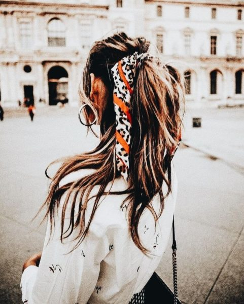 Scarf Ponytail Hairstyle Ideas For This Summer