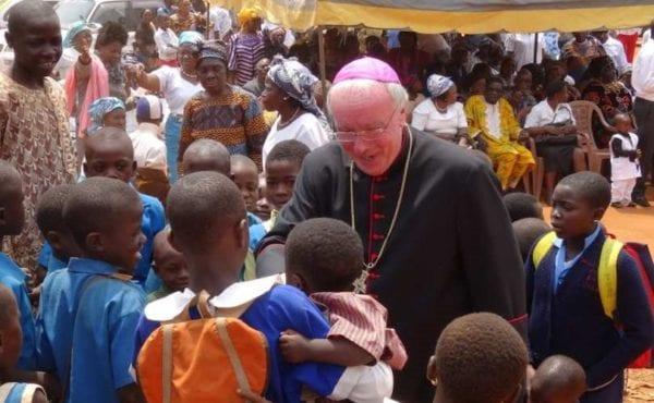 Bishop Philip Egan in Bamenda