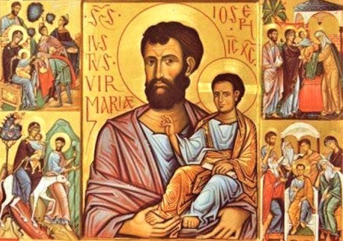 Saint Joseph and Jesus Christ