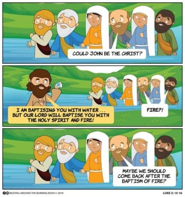 Cartoon JESUS- Baptism