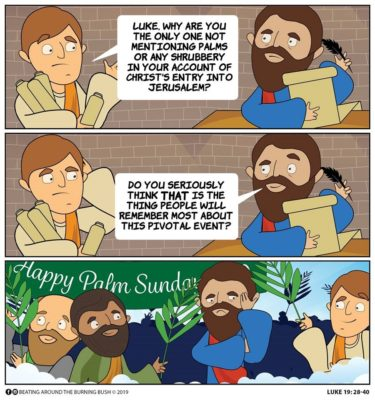 Cartoon Palm Sunday