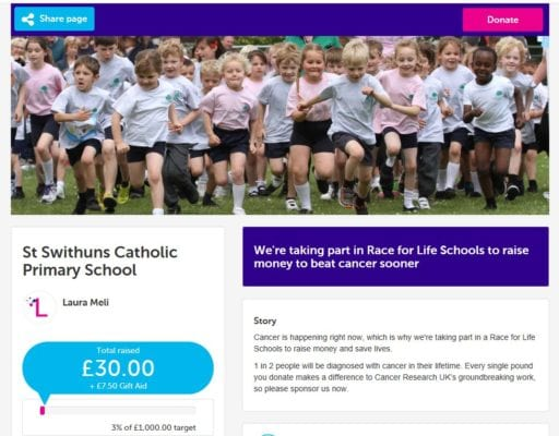 Race for Life - St Swithun's RC Primary School
