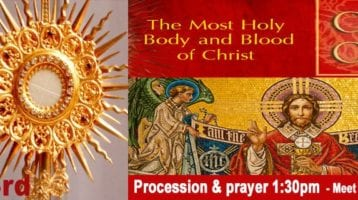 Newsletter: 23rd June 2019 - Solemnity of the Feast of Corpus Christi