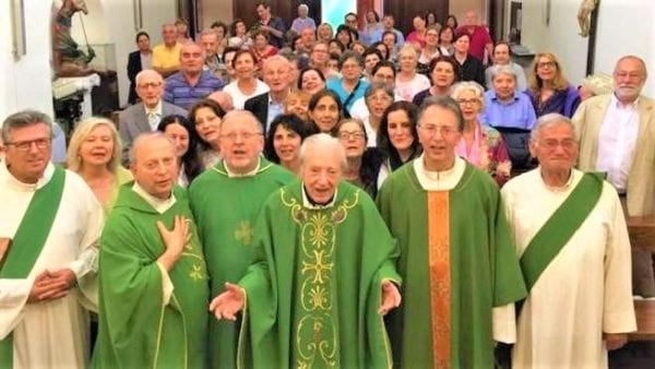 Wow Catholic Priest - Ordained after his wife Died turns 100 with 7 Children and 4 Sons who are Priests