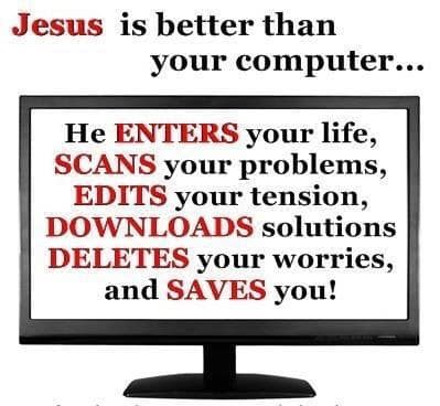 Does Jesus know how to use a Computer?