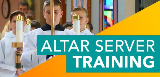 Altar Servers Training Meeting -  March 6th at 5:00pm