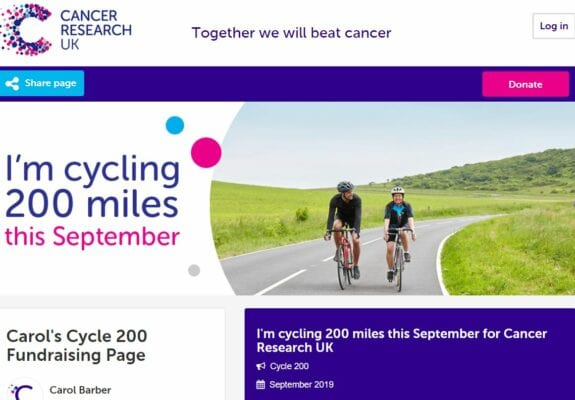 Sponsor - CRUK Cycle 200 - St Swithun's RC Primary School