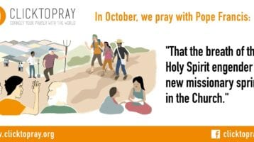 Pope Francis Prayer Intentions October 2019 -Evangelization – Holy Spirit