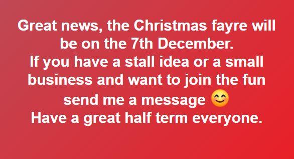 MUFTI Days towards FOSSS Christmas Fayre on 7th December 2019