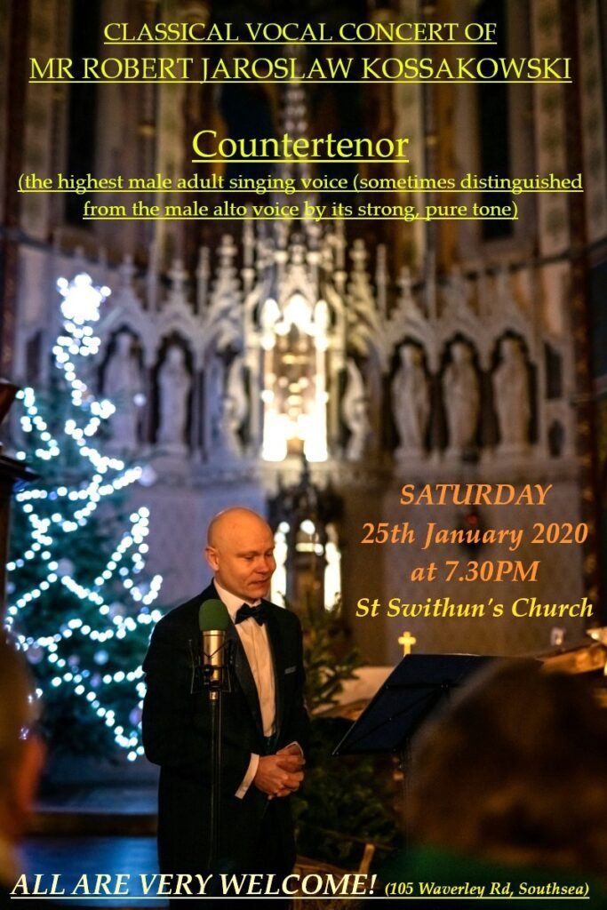 Classical Concert at St Swithun's Church – Saturday 25th January at 7:30pm