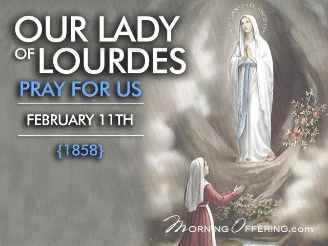 The Anointing of the Sick – Our Lady of Lourdes 11th Feb 2020