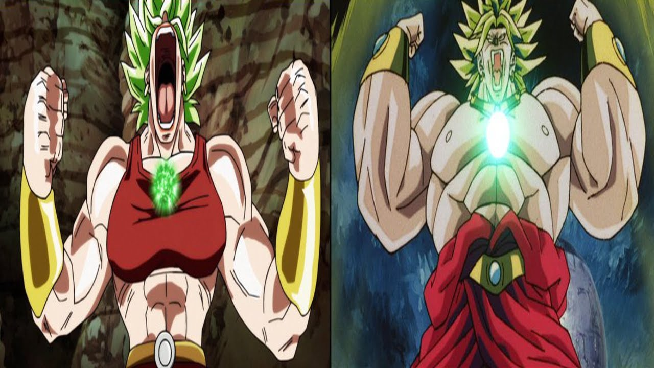 Kale's and broly's transformation