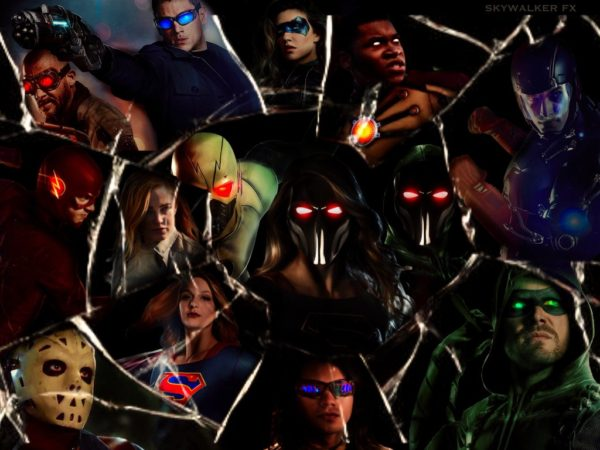 Upcoming Crisis on Earth-X Poster features dark flash supergirl arrow