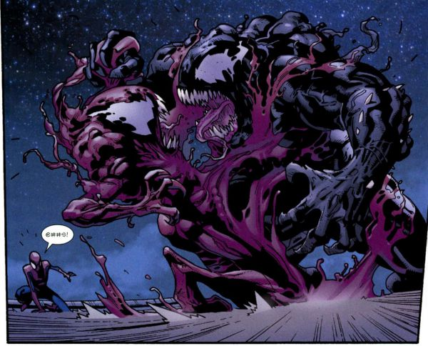 Venom shifted in bigger size for fighting with Spider-Man