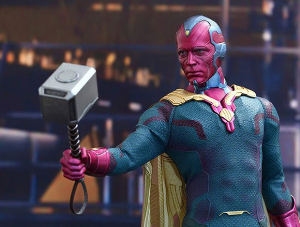 Vision lifts Mjolnir in Avengers: Age of Ultron