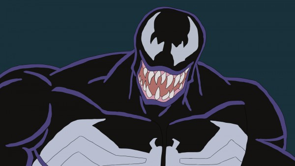 Venom smiling in Spider-Man animated series
