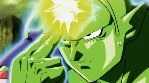 Piccolo's special canon beam towards Universe 6 Namekians in DBS 118