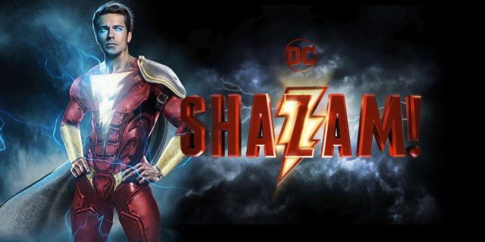 Billy Batson as Shazam movie poster logo