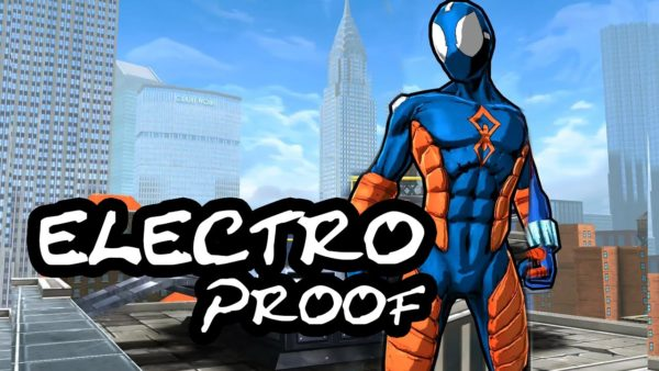 Spider-Man electro proof costume