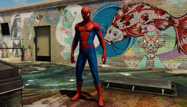 Red blue classical Spiderman suit