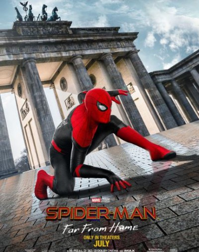 Peter Parker in spiderman far from home poster