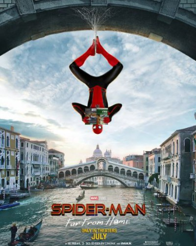 Peter Parker as Spider-man movie poster