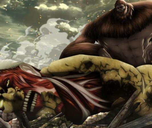 Beast Titan Eren and Armour TItan