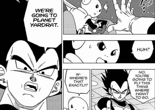 vegeta goes planet Yardrat in DBS chapter 50