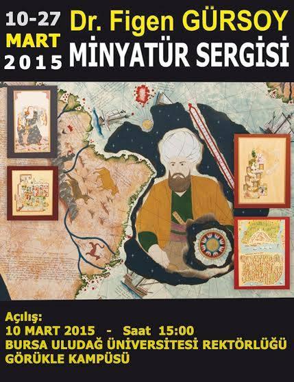 Minyatür Sergisi, Uludağ Üniversitesi, 2015.