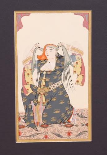 Levni- Saçını Toplayan Kadın - Reprodüksiyon