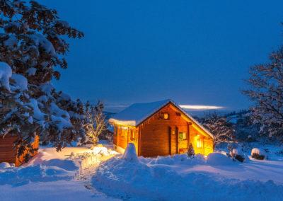 Chalet Carpe Diem, Gîte de France 3 ***, un soir d'hiver