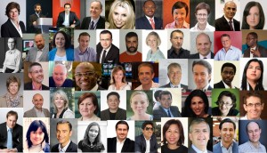 Collage of photos of the judges for the AIBs 2014