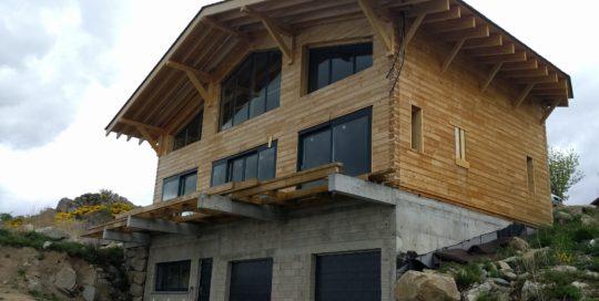 Test d'étanchéité à l'air d'une maison RT2012 aux Angles