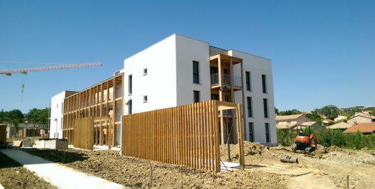 Test d'étanchéité à l'air de logements collectifs à Balma