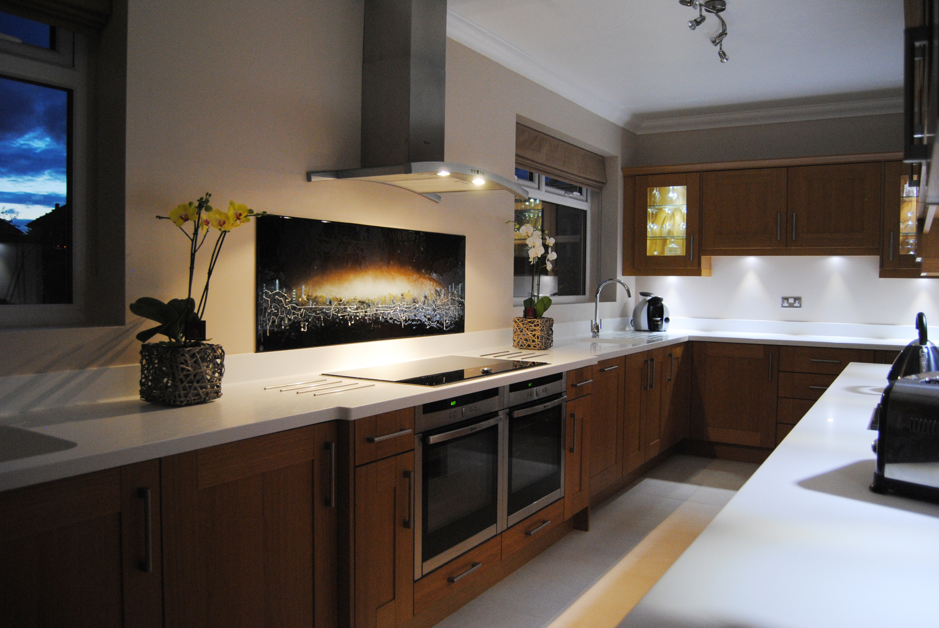 Black Cityscape splashback commission