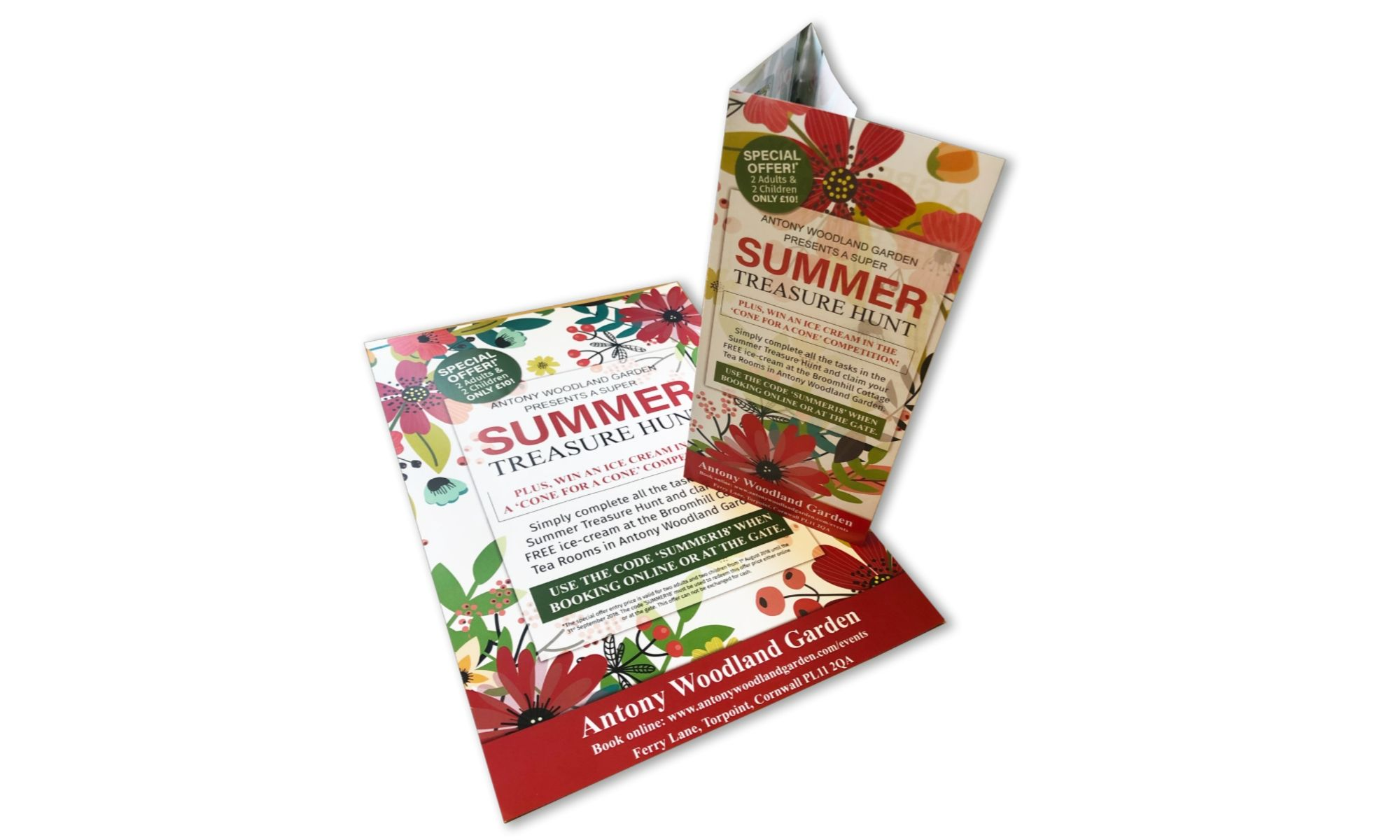Antony Woodland Garden Summer Leaflet