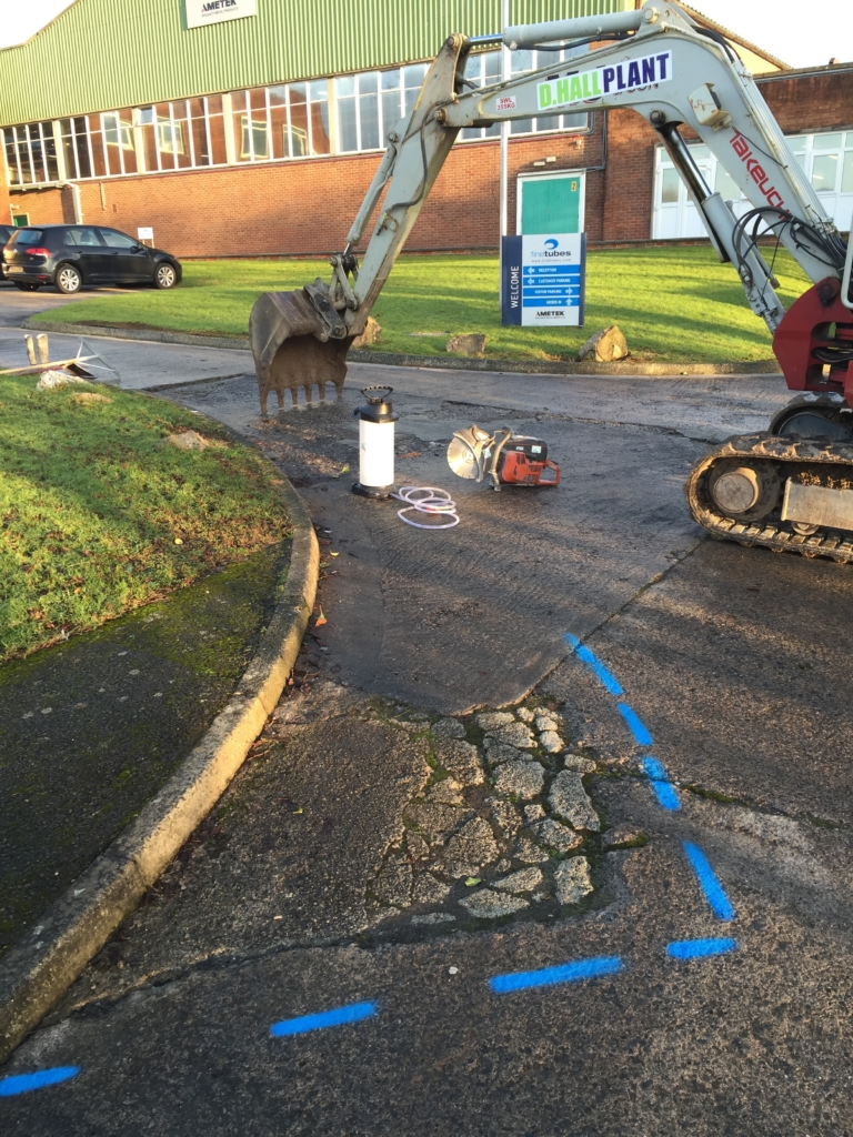 Concrete Access Track Groundworks Digger Plymouth Devon