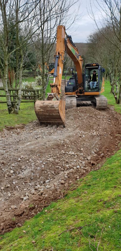 Groundworks Digger excavator plant hire Liskeard