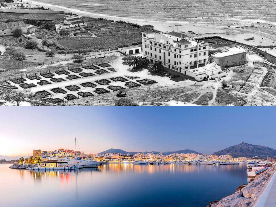 Marbella History in 1920 and now