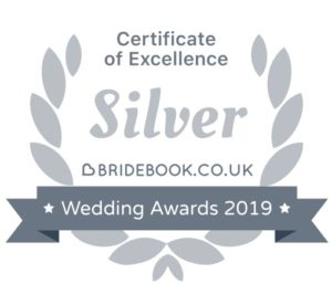 Silver Certificate of Excellence @ Bridebook.co.uk