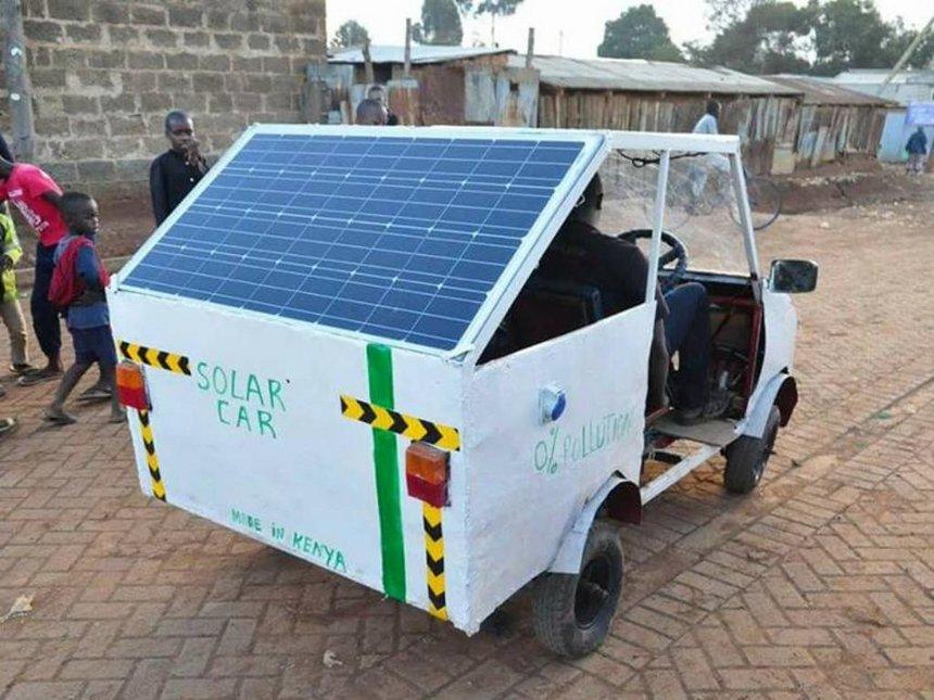 solar powered car courtesy