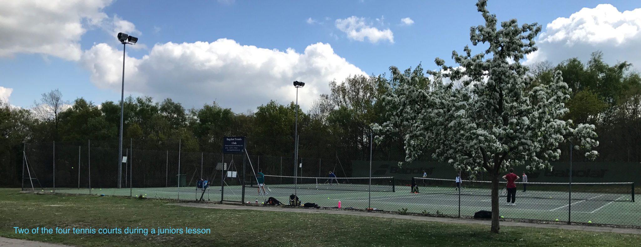 Bagshot tennis courts
