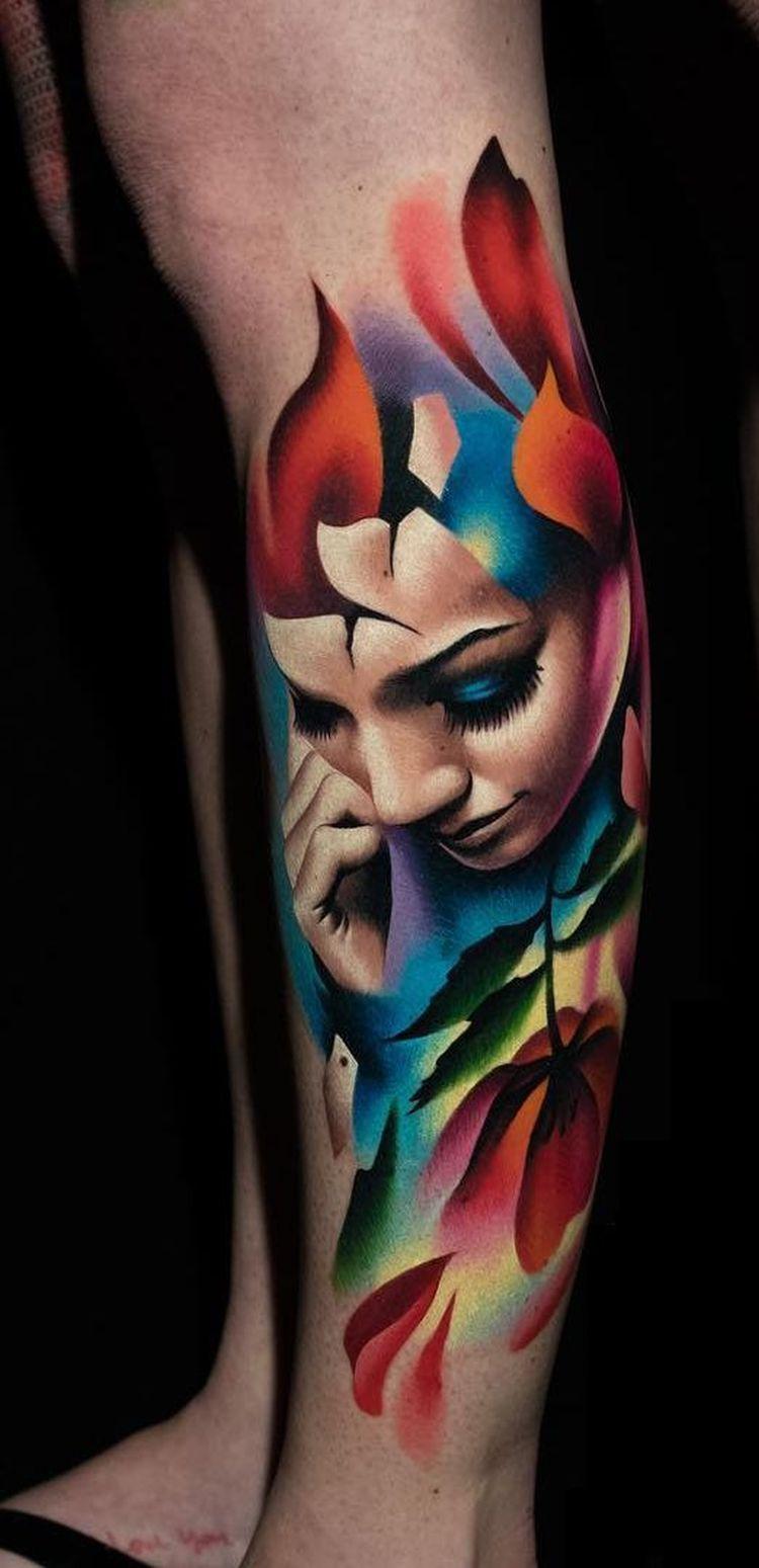 painterly tattoo