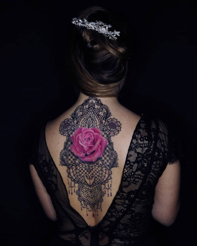 awesome lace tattoos
